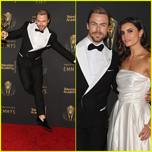 Derek Hough Leaps Into The Air After Third Emmy Win at Creative Arts Emmys 2021