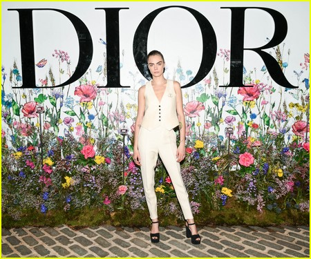 Cara Delevingne at the Miss Dior Millefiori Garden Pop-Up Preview and Dinner