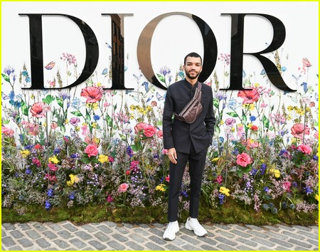 Justice Smith at the Miss Dior Millefiori Garden Pop-Up Preview and Dinner