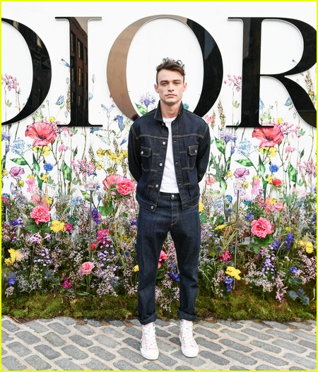 Thomas Doherty at the Miss Dior Millefiori Garden Pop-Up Preview and Dinner
