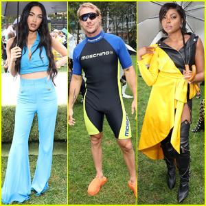 Diplo Wears Wetsuit to Moschino's NY Fashion Week Show Alongside Megan Fox & Taraji P. Henson