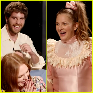 Drew Barrymore Dresses Up as 'Never Been Kissed' Character to Interview Cast of 'Dear Evan Hansen'