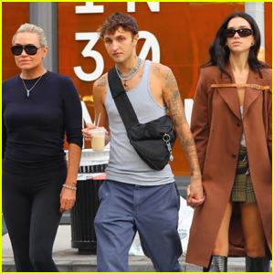 Dua Lipa Grabs Lunch with Boyfriend Anwar Hadid & His Mom Yolanda in NYC