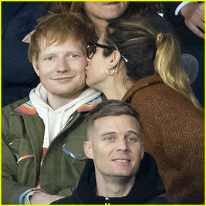 Ed Sheeran & Wife Cherry Seaborn Enjoy A Soccer Match in Paris