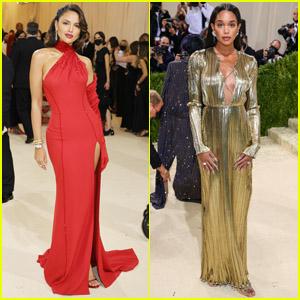 Eiza Gonzalez & Laura Harrier Strike a Pose at the Met Gala 2021
