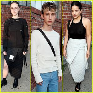 Ella Emhoff Enjoys Eckhaus Latta's Fashion Show on The Front Row With Rosalia & Troye Sivan