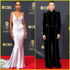 Kerry Washington & Ellen Pompeo Hit the Red Carpet for the Emmys 2021