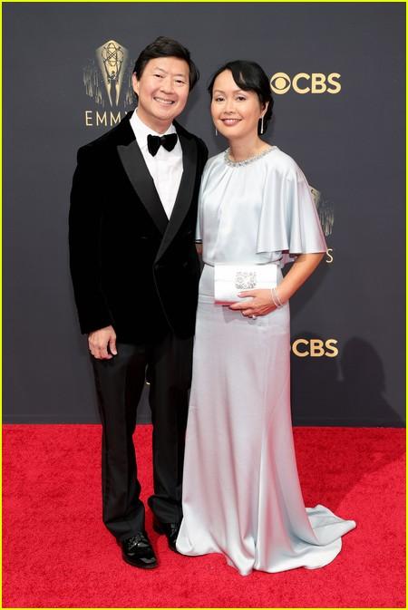 Ken Jeong and wife Tran Jeong at the Emmy Awards 2021