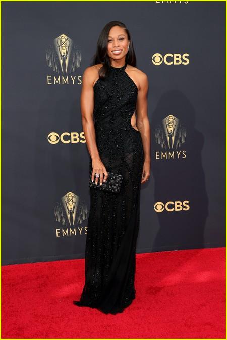 Allyson Felix at the Emmy Awards 2021