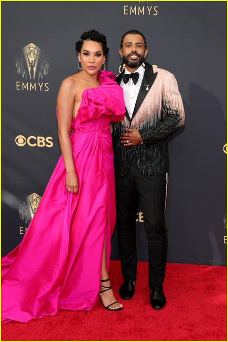Emmy Raver-Lampman and Daveed Diggs at the Emmy Awards 2021