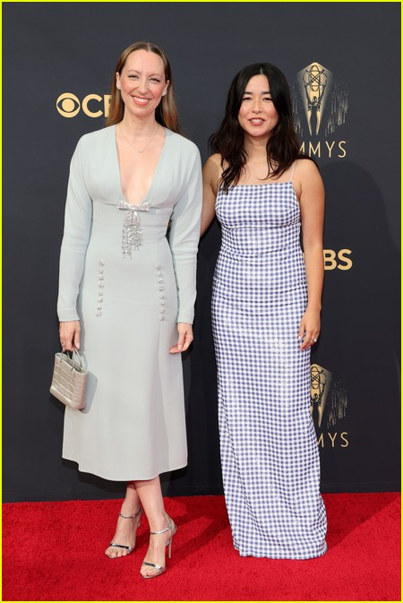 Anna Konkle and Maya Erskine at the Emmy Awards 2021