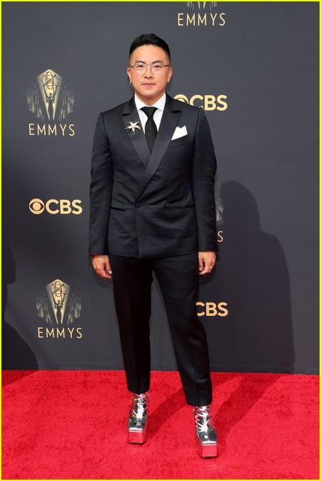 Bowen Yang at the Emmy Awards 2021