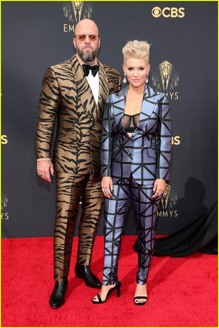 Chris Sullivan and wife Rachel Sullivan at the Emmy Awards 2021