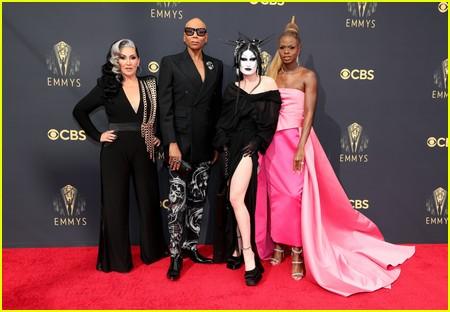 Michelle Visage, RuPaul, Gottmik, Symone at the Emmy Awards 2021