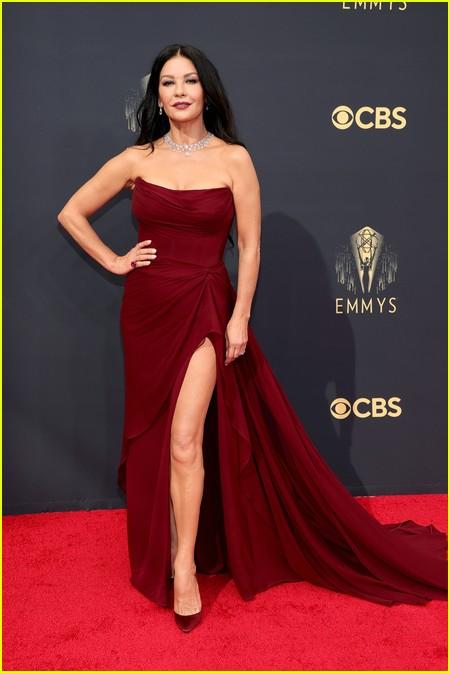 Catherine Zeta-Jones at the Emmy Awards 2021