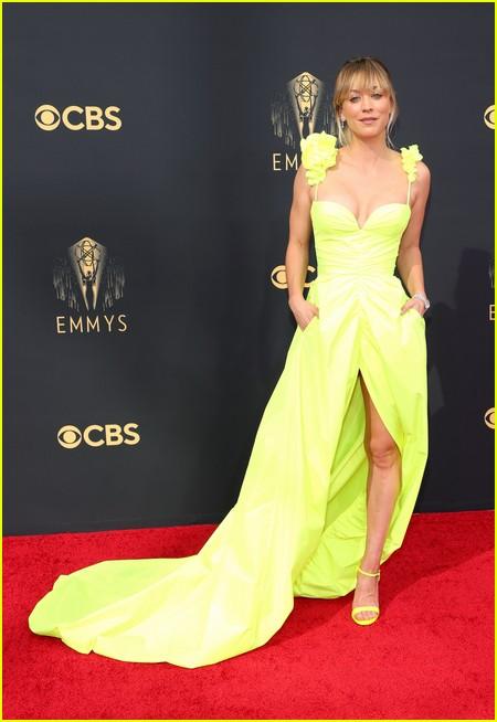 Kaley Cuoco at the Emmy Awards 2021