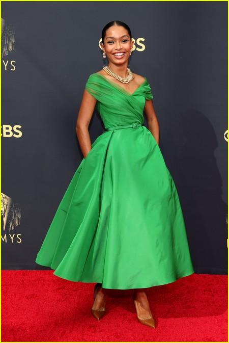 Yara Shahidi at the Emmy Awards 2021