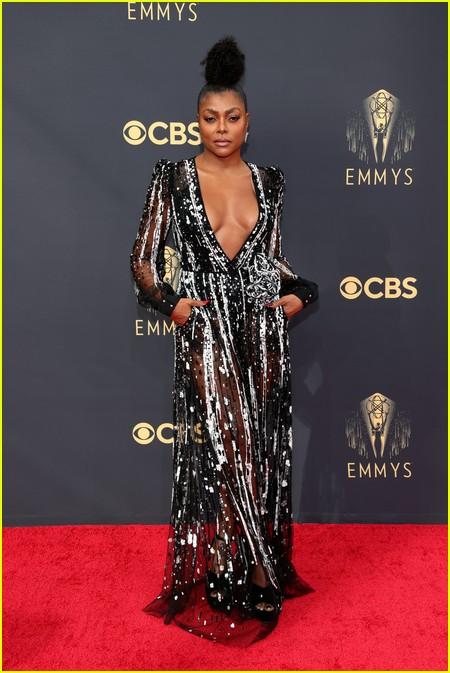 Taraji P. Henson at the Emmy Awards 2021