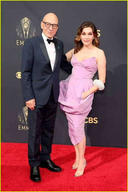 Patrick Stewart and wife Sunny Ozell at the Emmy Awards 2021