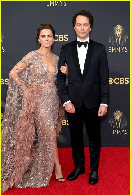 Keri Russell and Matthew Rhys at the Emmy Awards 2021