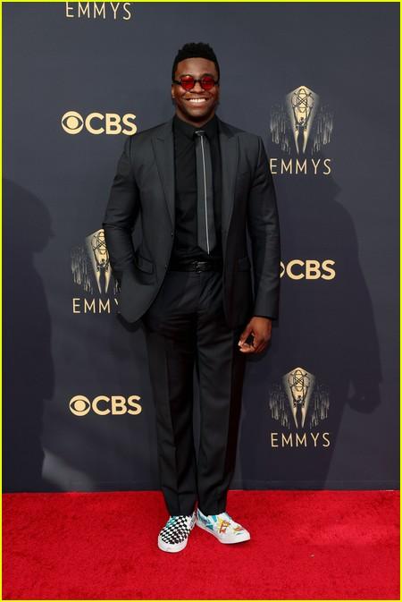 Okieriete Onaodowan at the Emmy Awards 2021