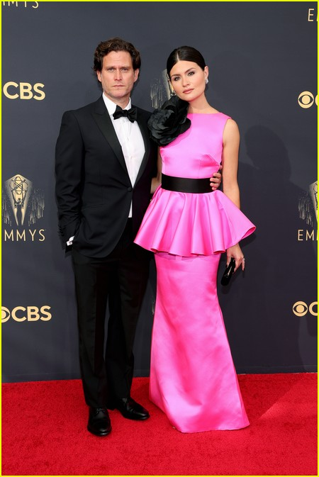 Phillipa Soo and Steven Pasquale at the Emmy Awards 2021