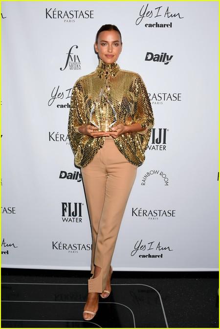 Irina Shayk at The Daily Front Row Fashion Media Awards 2021