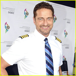 Gerard Butler Meets Puerto Rico's Governor During Break From Filming 'The Plane' Movie