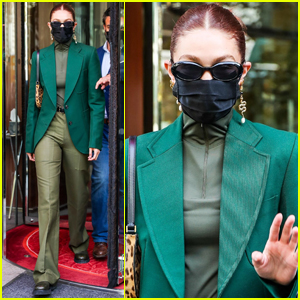 Gigi Hadid Wears 50 Shades of Green During Day Out in Paris