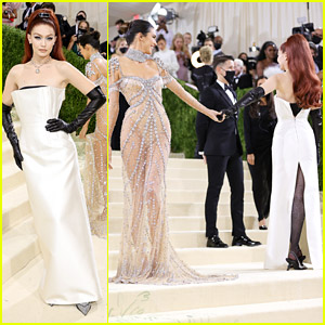 Gigi Hadid Shares Cute Moment With Kendall Jenner at Met Gala 2021