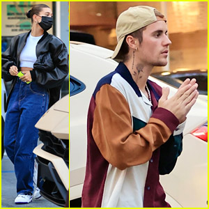 Justin Bieber Goes Shopping With Wife Hailey Bieber Ahead of MTV VMAs Announcement