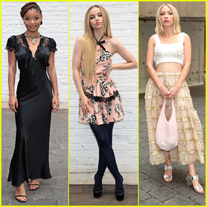 The Little Mermaid's Halle Bailey Sits Front Row with Dove Cameron & Tavi Gevinson at Rodarte NYFW Show