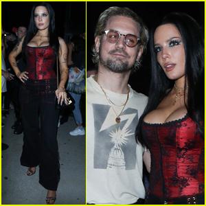 Halsey & Boyfriend Alev Aydin Enjoy Night Out at Bella Hadid's NYFW Party!