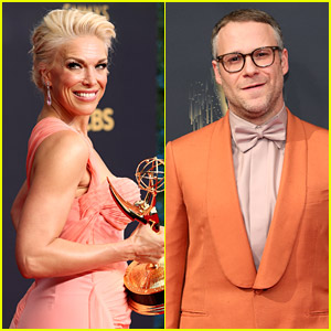 Seth Rogen Mispronounced Hannah Waddingham's Name at the Emmy Awards 2021 & She Had A Perfect Reaction To It