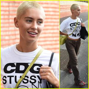'Pistol' Star Iris Law Shows Off Her Blonde Buzz Cut at Milan Fashion Week 2021