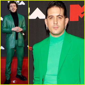Jack Harlow & G-Eazy Match in Colorful Green Suits at the 2021 MTV VMAs