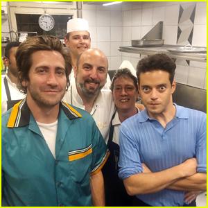 Jake Gyllenhaal & Rami Malek Enjoy a Dinner Together in Venice