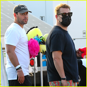 James Corden Hangs Out with Scooter Braun at the Malibu Chili Cook-Off (Photos)