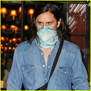 Jared Leto Wraps Bandana Around His Face While Out to Dinner in NYC