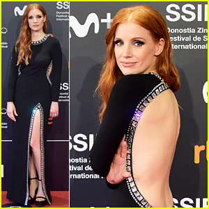 Jessica Chastain Is 'Feeling Cheeky' in This Backless Dress at 'The Eyes of Tammy Faye' San Sebastian Premiere!