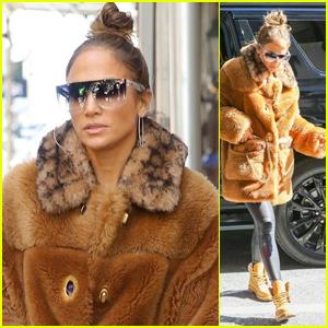 Jennifer Lopez Rocks a Fur Coat as Fall Starts in New York City