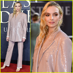 Jodie Comer Wears Shimmering Suit to 'The Last Duel' Premiere in London