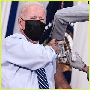 President Joe Biden Receives COVID-19 Booster Shot On Camera
