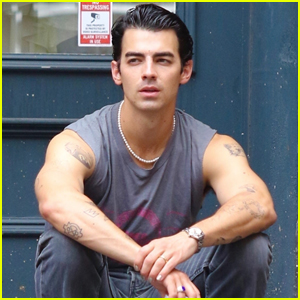 Joe Jonas Shows Off Tattooed Arms Wearing Sleeveless Shirt During Day Out in NYC
