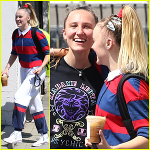 JoJo Siwa Gets Greeted By Girlfriend Kylie Prew Following 'Dancing With The Stars' Rehearsal