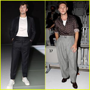 Jonah Hauer-King & Niall Horan Attend Emporio Armani Fashion Show at Milan Fashion Week