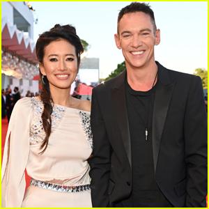 Jonathan Rhys Meyers Makes Rare Public Appearance with Wife Mara Lane at Venice Film Festival 2021