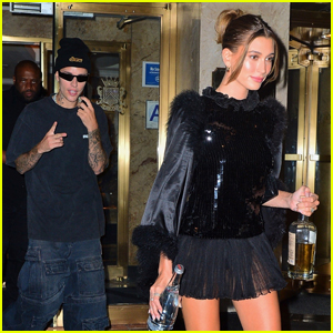 Justin & Hailey Bieber Wear All-Black Outfits for His Met Gala 2021 After-Party
