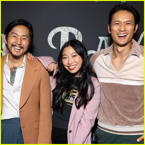Justin Chon is Supported by Awkwafina & Harry Shum Jr. at 'Blue Bayou' Premiere
