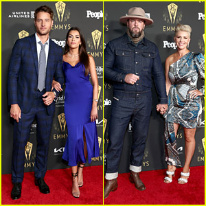 This Is Us' Justin Hartley & Chris Sullivan Bring Wives To Emmy Nominees Reception